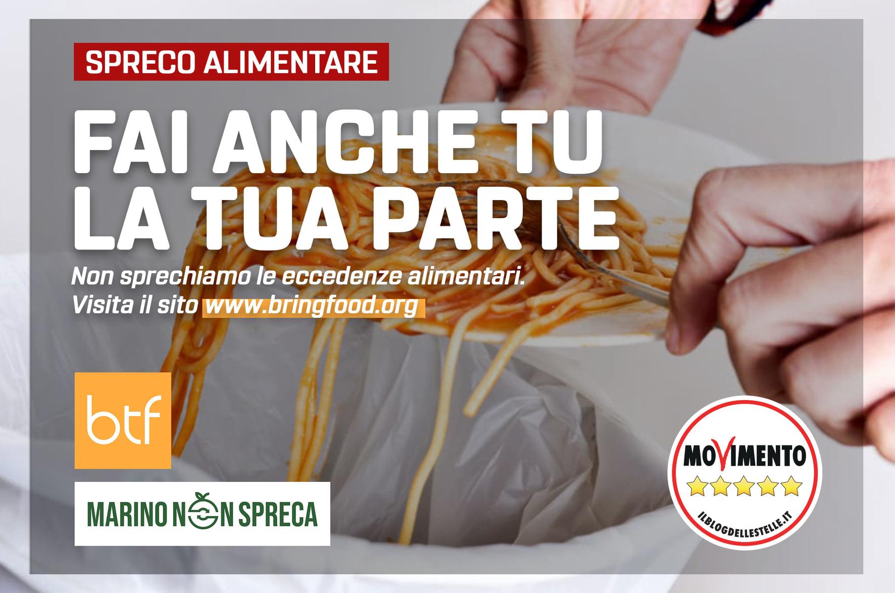 """""""Marino non spreca"""" incontro on line sul recupero delle eccedenze alimentari"""