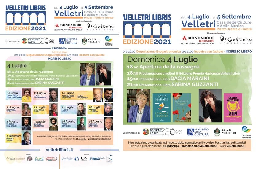 "Velletri, riparte l'attesissima rassegna ""Velletri Libris"""