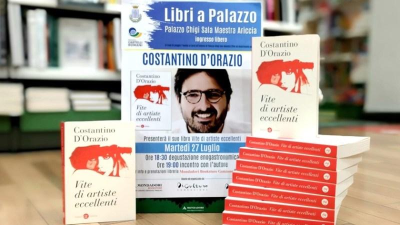 """Ariccia, Costantino D'Orazio a Palazzo Chigi con il libro""""Vite di artiste eccellenti"""""""