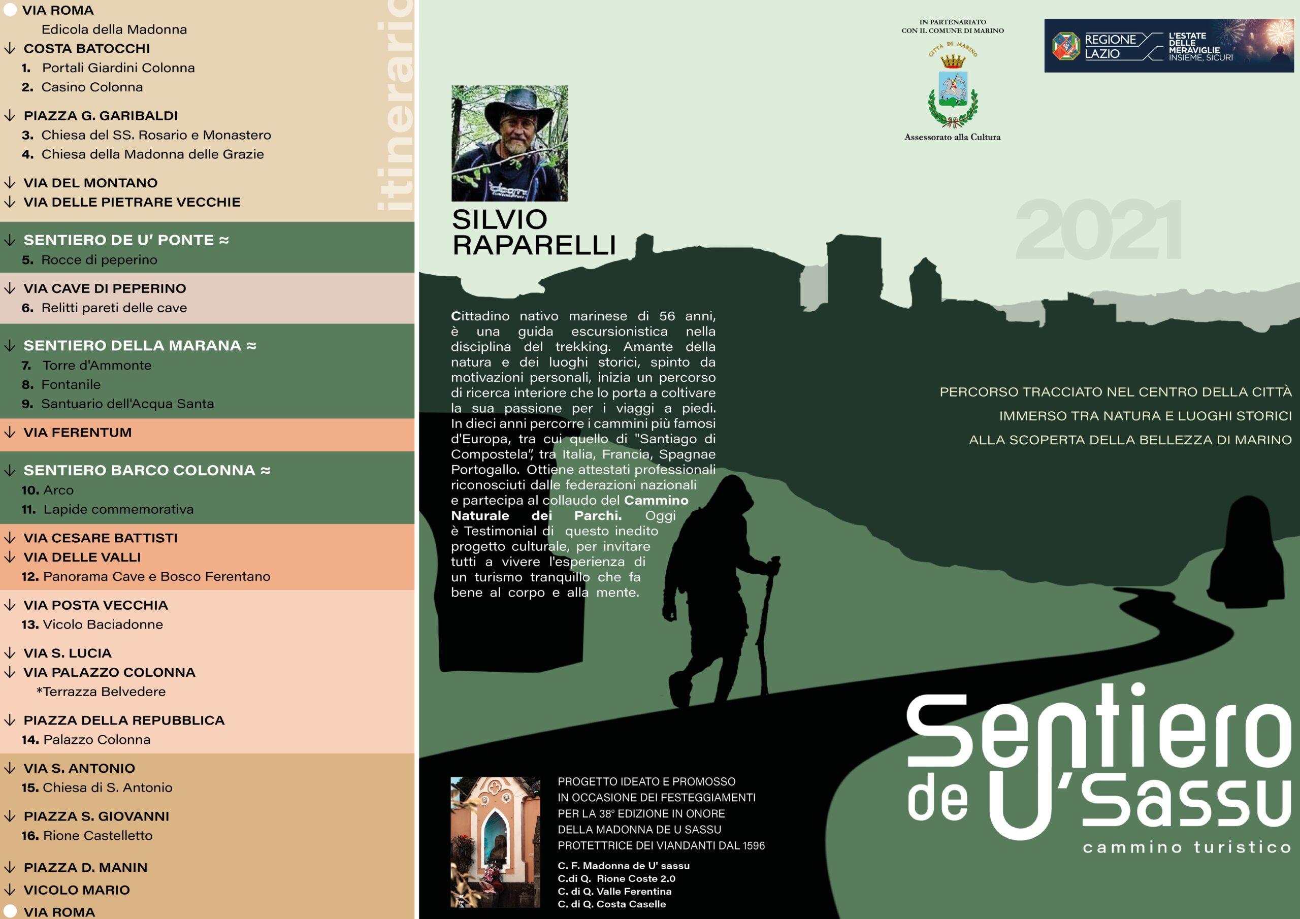 Marino, nasce il Sentiero de U' Sassu 4 km immersi tra natura e luoghi storici