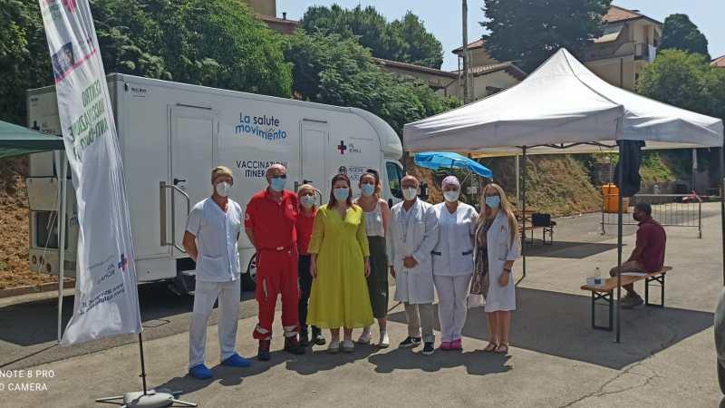 Rocca Priora, oltre 60 le persone vaccinate con il camper della Asl Roma 6