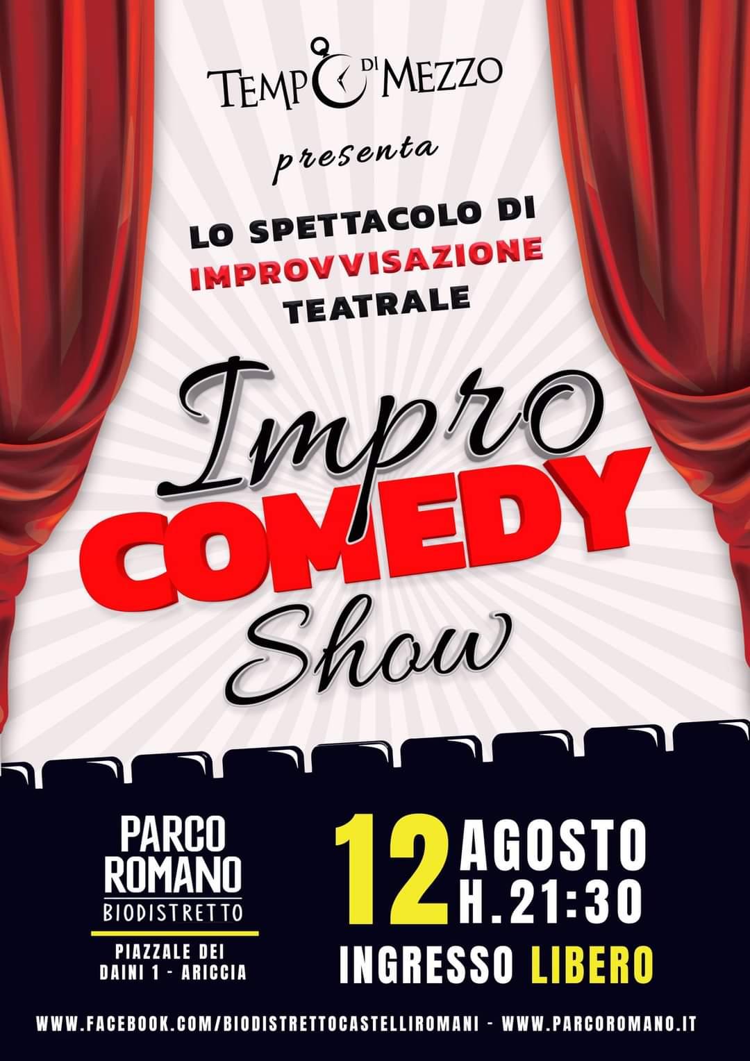 Ariccia, appuntamento con la comicità stasera con l'Impro Comedy Show al Parco Romano
