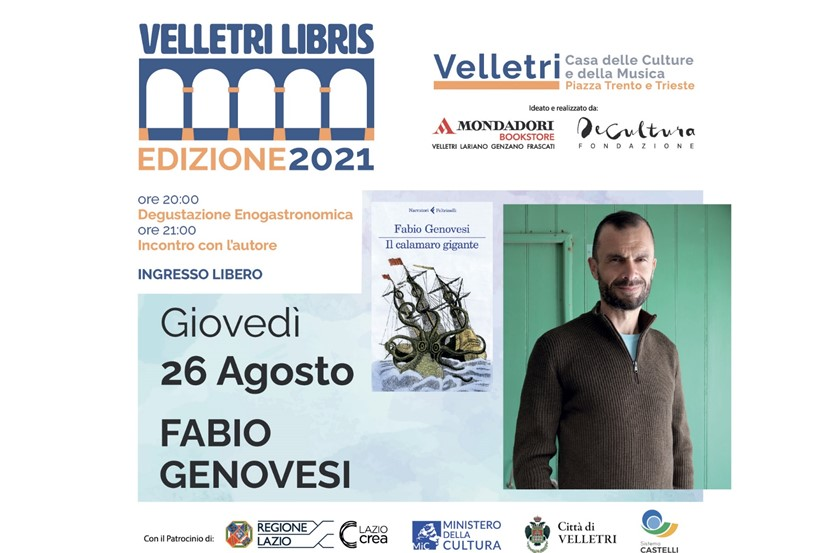 """""""Velletri Libris"""", Fabio Genovesi presenta il suo romanzo """"Il calamaro gigante"""""""