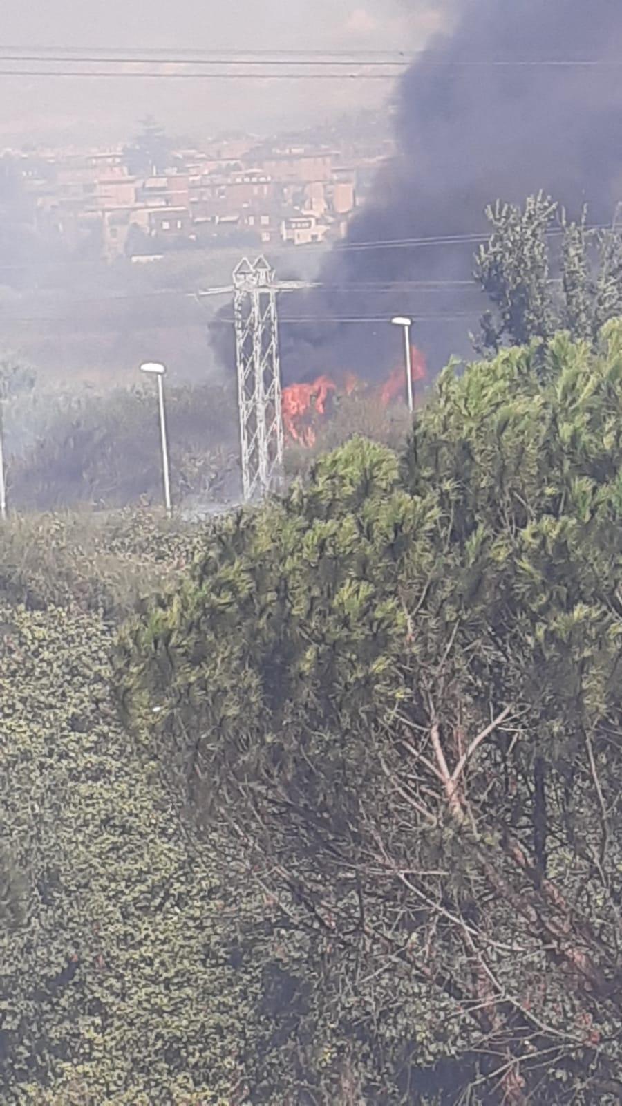 Lanuvio, scoppia incendio nella zona rurale tra Via Cisternese e Aprilia