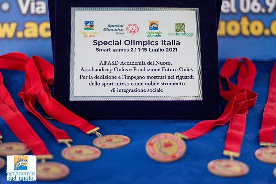 Marino, Smart Games 2021, premiati i nuotatori paraolimpici dell'Accademia del Nuoto di Marino