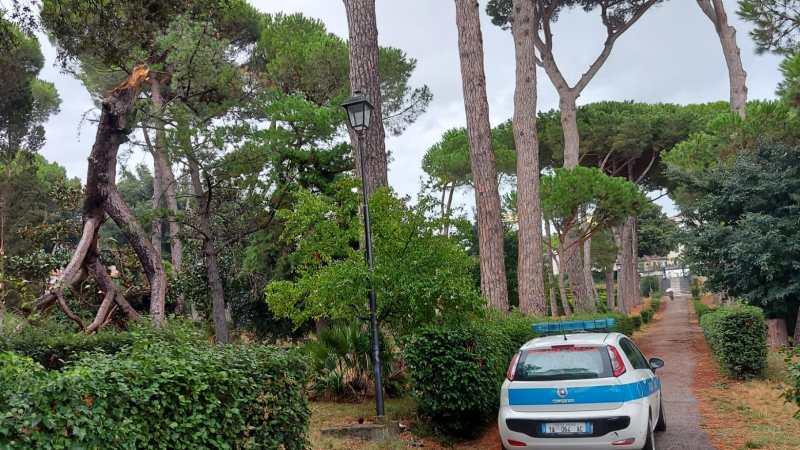 Castelli romani, Albano: maltempo causa numerosi disagi, rami caduti e allagamenti