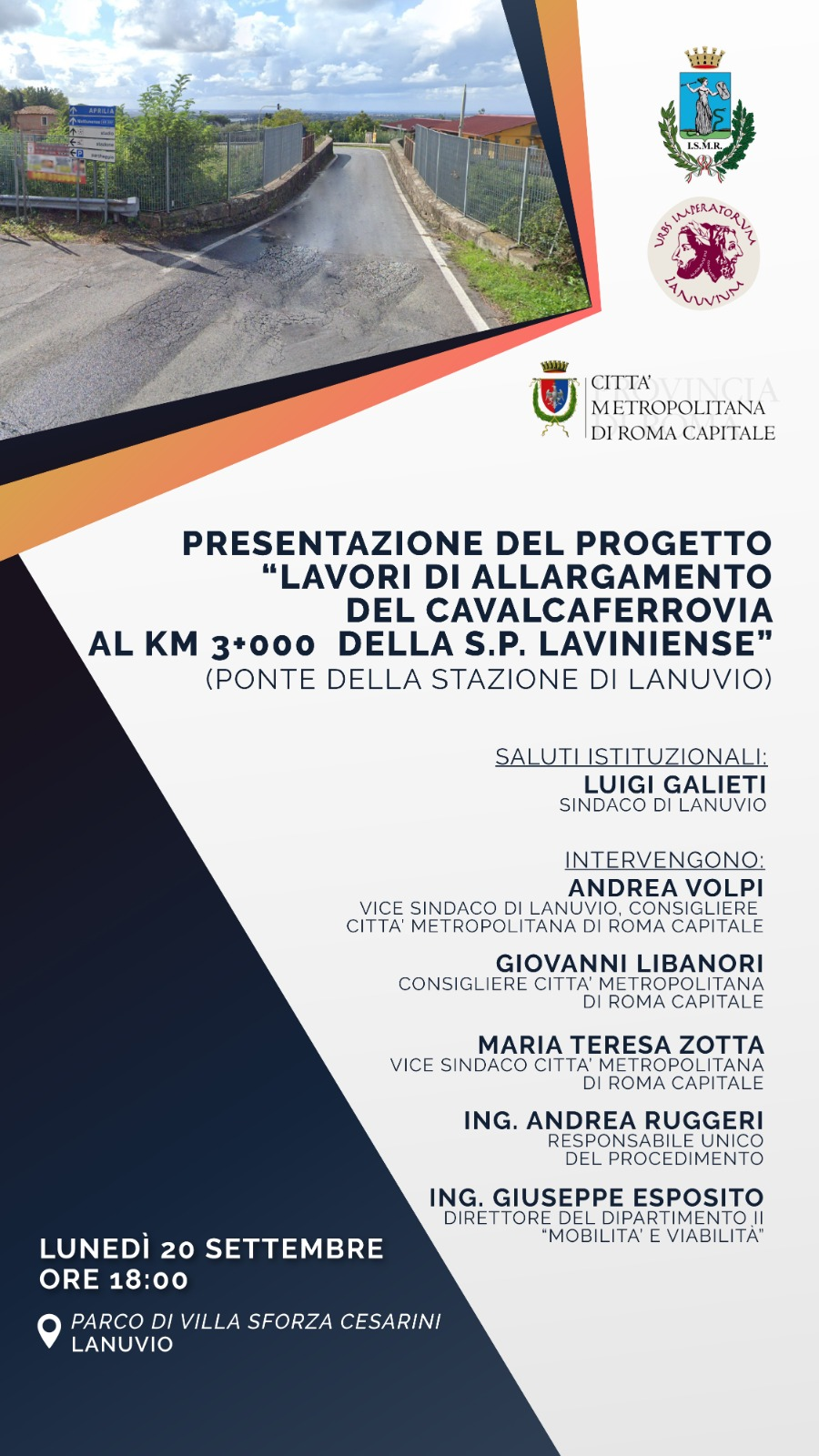 Lanuvio, lunedì 20 la presentazione del progetto di allargamento del cavalcaferrovia