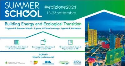 Enea, al via la Summer School sulla transizione ecologica degli edifici