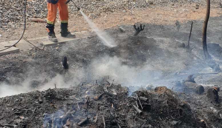 Lanuvio, incendio doloso mette a rischio abitazioni lungo la linea ferroviaria