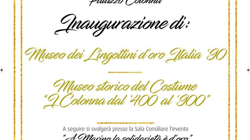 Marino, Palazzo Colonna si apre alla cultura, all'arte, allo sport e alla solidarietà