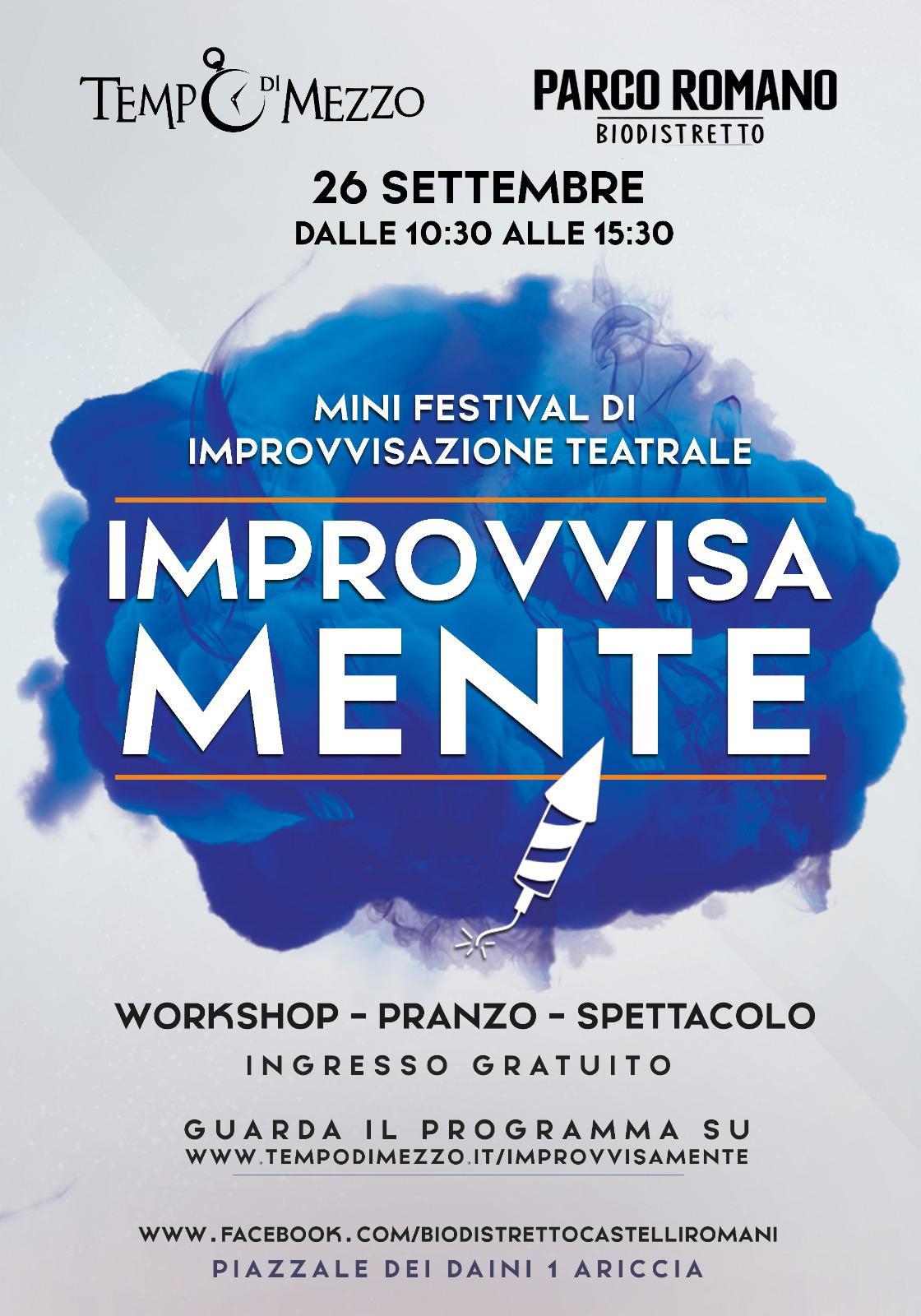 Ariccia, un festival dedicato all'improvvisazione teatrale al Parco Romano Biodistretto  di Montegentile