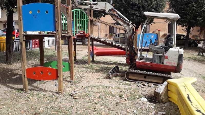 Valmontone, al via i lavori di riqualificazione dei Giardini di Piazza della Repubblica