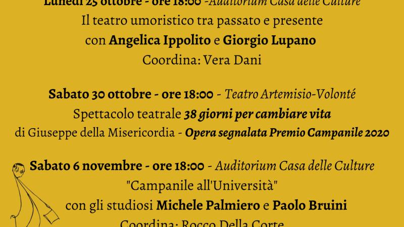 Velletri, Torna Campaniliana: dal 25 ottobre al 7 novembre  spettacoli, convegni e conferenze dedicati Campanile