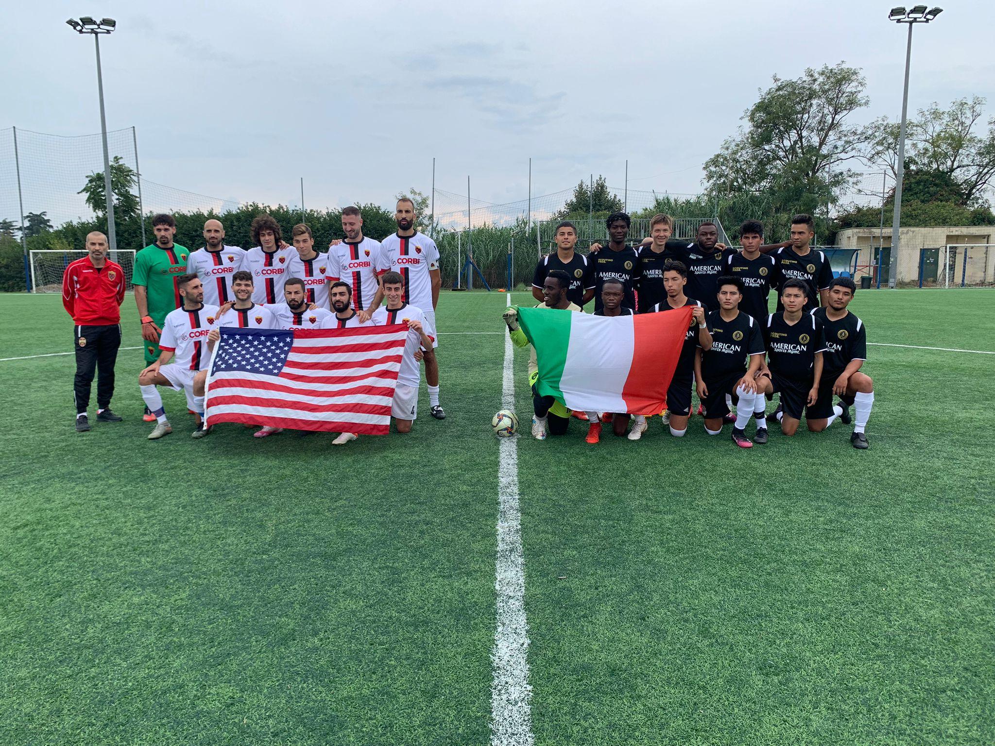 Velletri, Calcio : vittoria per la Vjs contro gli americani del Soccer Scouting Pross nell'amichevole internazionale