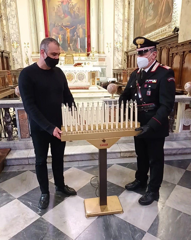 Segni, 40enne ruba candeliere dalla chiesa, arrestato dai Carabinieri