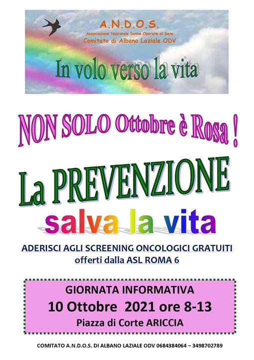 Ottobre Rosa, l'associazione A.N.D.O.S. in piazza per informare