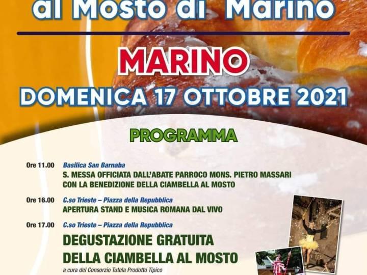 Marino, Domenica 17 Ottobre si festeggia con la 24ª Sagra della Ciambella al Mosto