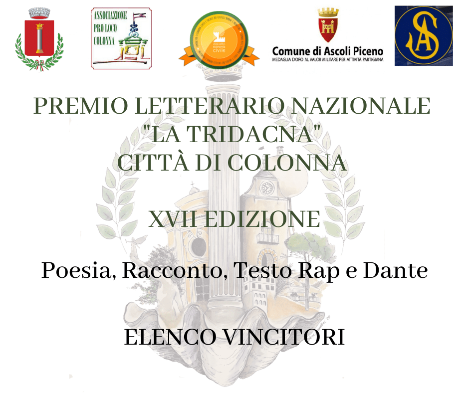 """Colonna, annunciati i vincitori del Premio Letterario Nazionale """"La Tridacna"""""""
