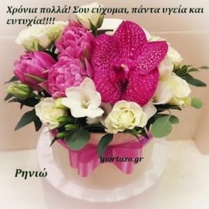 Ρηνιώ  Χρόνια Πολλά!!!….giortazo.gr