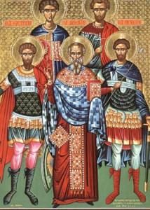Read more about the article Άγιοι Ευστράτιος, Αυξέντιος, Ευγένιος, Μαρδάριος και Ορέστης
