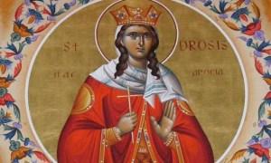 Η Αγία Δροσίδα και των συν αυτή πέντε Παρθένων εορτάζουν στις 22 Μαρτίου