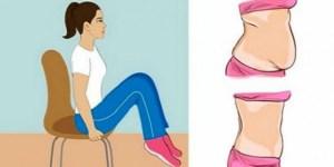 ΑΣΚΗΣΕΙΣ: Καθίστε και χάστε κιλά!! Εξαφανίστε το λίπος της κοιλιάς με αυτές τις 5 ασκήσεις της καρέκλας!