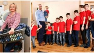 Read more about the article Μαμά 10 αγοριών βάζει σκούπα 7 φορές την ημέρα και λέει οτι δεν πρόκειται να χορτάσει ύπνο μέχρι το 2034