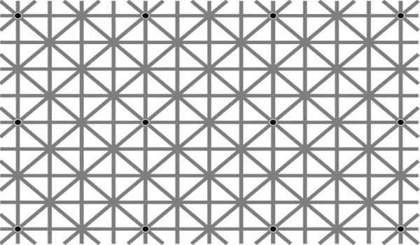 Η φωτό έχει 12 μαύρες τελείες, αλλά δεν τις βλέπετε ταυτόχρονα – Ξέρετε γιατί..;
