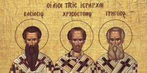 Read more about the article 30 Ιανουαρίου η Εκκλησία γιορτάζει τους τρεις Ιεράρχες
