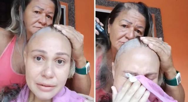 Η αγάπη της μάνας: Μητέρα ξυρίζει κι αυτή το κεφάλι για συμπαράσταση στην άρρωστη κόρη – Βίντεο