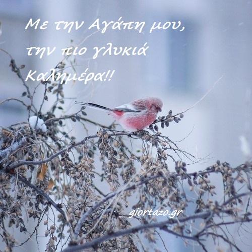 Χιονισμένα τοπία για καλημέρα με όμορφα λόγια!!!