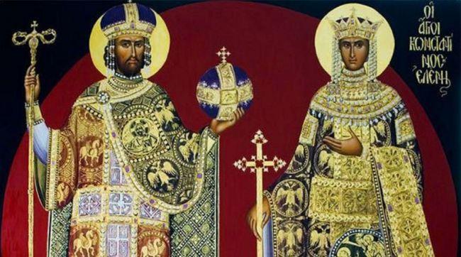Η εκκλησία μας γιορτάζει σήμερα τους Αγίους Κωνσταντίνο και Ελένη