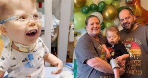3χρονο αγόρι βλέπει για πρώτη φορά τα πρόσωπα των γονιών του και η αντίδραση του μας γεμίζει χαμόγελα