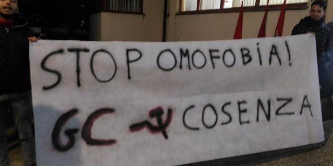 I GC di Cosenza contro l'omofobia.
