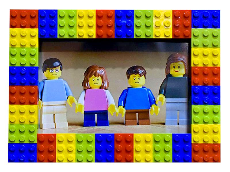 Festa del papà - LEGO idee creative - cornice foto giovanigenitori.it