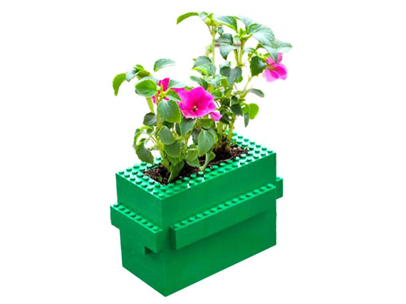 Festa del papà - LEGO idee creative - vaso di fiori giovanigenitori.it