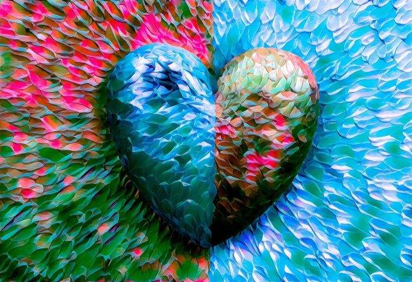 Cuore multicolore