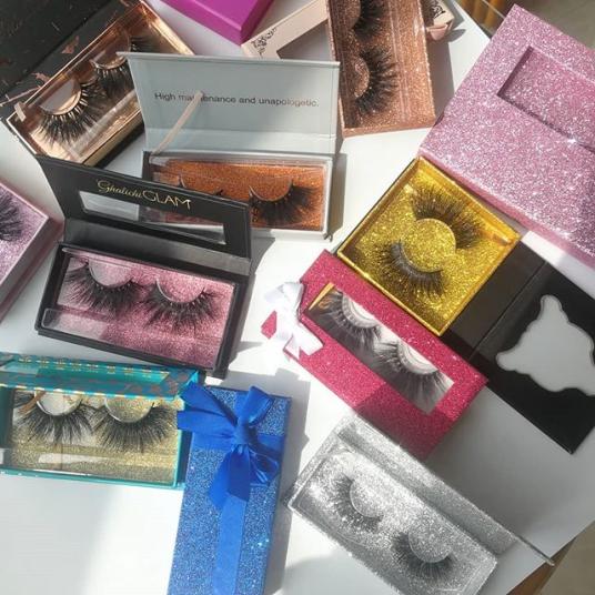 Customized eyelash Packaging box with logo