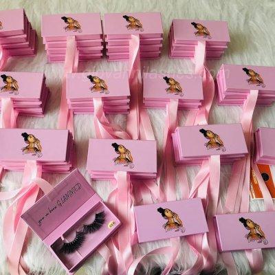 Custom eyelashes dollar packing box eyelashes empty box wholesale