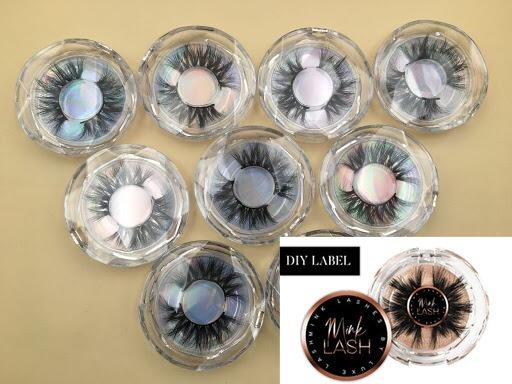 20mm Siberian mink strip eyelashes eyelash case wholesale eyelashes private label