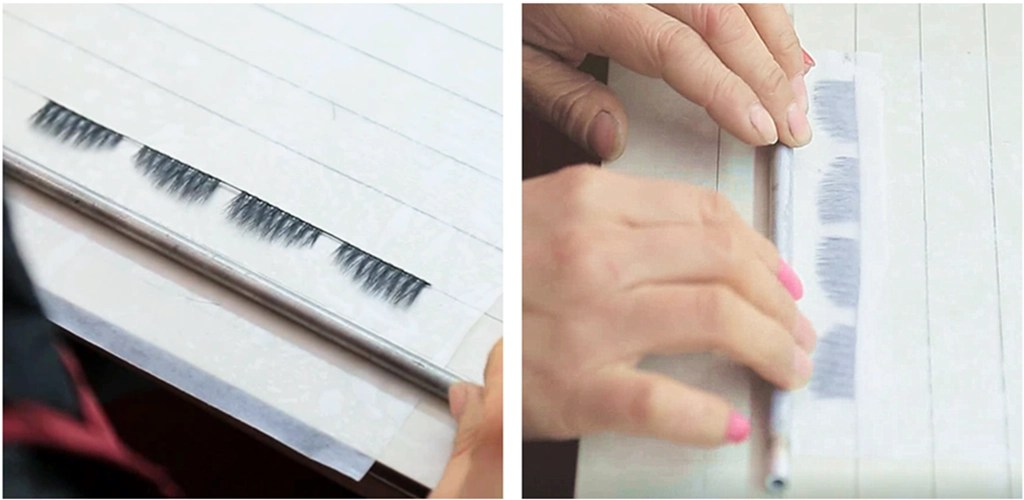 The eyelashes are rolled up with moist special paper, and every detail of the production of mink lashes has been explored and accumulated for a long time.