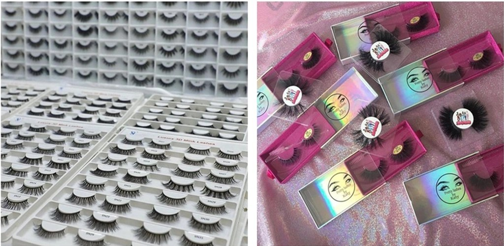 Put the finished eyelashes in a beautiful package. Complete production of mink eyelashes is complete!