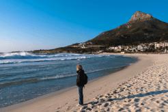 Der Strand von Camps Bay, Kapstadt, Südafrika
