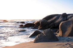 Küste bei Camps Bay, Kapstadt, Südafrika