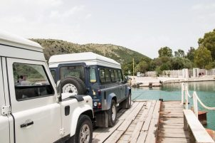 Pontonfähre bei Butrint, Albanien