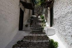 Seitenstraße in Berat, Albanien