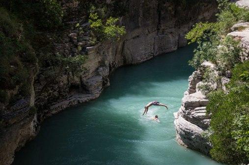 Osum Canyon, Albanien