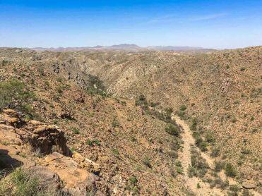 Blick über das Isabis Flussbett, Namibia