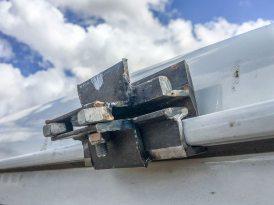 Selbstgebaute Halterung für den Dachgepäckträger