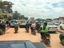 Uganda: Bodaboda-Fahrer in Kampala